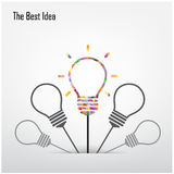 Creative light bulb  and the best idea concept Royalty Free Stock Images