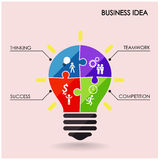 Creative light bulb and business idea Stock Photography
