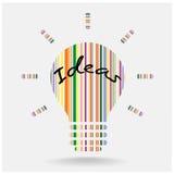 Creative light bulb. Business and ideas concepts,Vector illustration Stock Photos