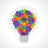 Creative light-bulb of colorful message bubble Stock Photo