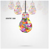 Creative light bulb concept background ,business i Royalty Free Stock Image