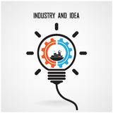 Creative light bulb concept background design Royalty Free Stock Image