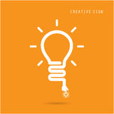 Creative light bulb concept, design for poster flyer cover broch Stock Image
