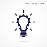 Creative light bulb and gear abstract vector design banner templ Stock Photos