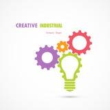 Creative light bulb and gear abstract vector design banner templ Royalty Free Stock Photos