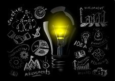 Creative light bulb idea Stock Photography
