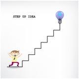 Creative light bulb idea and businessman Royalty Free Stock Photos