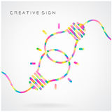 Creative light bulb Idea concept background design for poster fl royalty free illustration