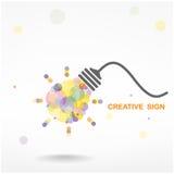 Creative light bulb Idea concept Stock Photos