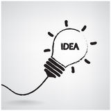 Creative light bulb Idea concept Stock Image
