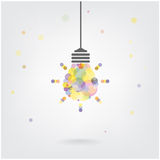 Creative light bulb Idea concept background Stock Photo