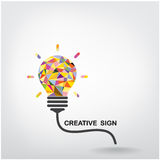 Creative light bulb Idea concept background Royalty Free Stock Photo