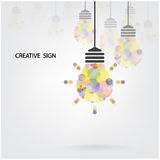 Creative light bulb Idea concept background design Royalty Free Stock Images