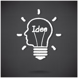 Creative light bulb Idea concept background design Royalty Free Stock Photo