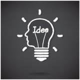 Creative light bulb Idea concept background design Royalty Free Stock Photo