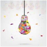 Creative light bulb Idea concept background Royalty Free Stock Photography