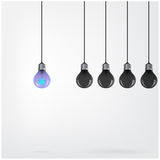 Creative light bulb Idea concept background Royalty Free Stock Images