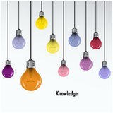 Creative light bulb Idea concept background Royalty Free Stock Photos