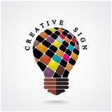 Creative light bulb Idea concept background Royalty Free Stock Photos