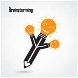 Creative light bulb Idea concept background design Stock Photography
