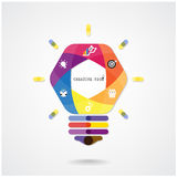 Creative light bulb Idea concept background Stock Photography
