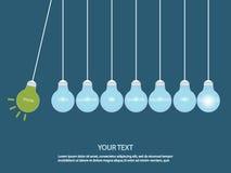 Creative light bulb Idea concept. vector illustration