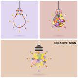 Creative light bulb Idea concept,business idea ,ab Stock Images