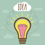 Creative Light bulb for Idea concept. Royalty Free Stock Image