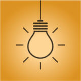 Creative light bulb idea concept sign Royalty Free Stock Images