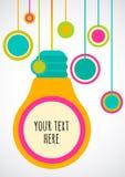 Creative light bulb Idea concept. Vector background, design for. Flyer or poster Stock Photo