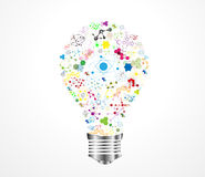 Creative light bulb idea DNA Royalty Free Stock Image
