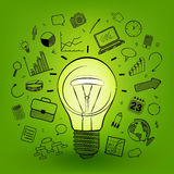 Creative light bulb idea icon, vector Royalty Free Stock Photo