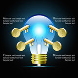 Creative light bulb idea infographic and business Infographic cr Royalty Free Stock Photography