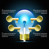 Creative light bulb idea infographic and business Infographic cr Royalty Free Stock Image