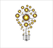Creative light bulb idea Molecule Stock Photos
