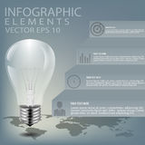 Creative light bulb illustration, can be used for infographics, concept vector illustration Royalty Free Stock Images