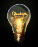 Creative light bulb Royalty Free Stock Image