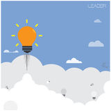 Creative light bulb ,leader concept Royalty Free Stock Photos
