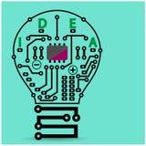 Creative light bulb sign. Light bulb idea concept template ,Light bulb circuit symbol . Vector illustration Stock Images