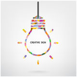 Creative light bulb symbol Stock Images