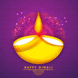 Creative lit lamp for Happy Diwali celebration. Royalty Free Stock Photos