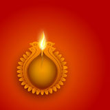 Creative lit lamp for Happy Diwali celebration. Stock Images
