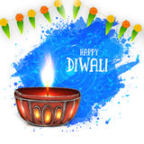 Creative lit lamp for Happy Diwali. Stock Image