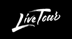 Creative Live Tour logo design Royalty Free Stock Photography