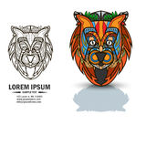 Creative logo and brandbook elements with lion. Royalty Free Stock Photography