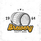 Creative logo design with beer barrel. Royalty Free Stock Images