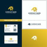 Geometric style of electric lion logo design concept template stock illustration