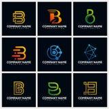 Letter B Pack Creative Logo Design Concept Vector Template royalty free illustration
