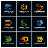 Letter D Pack Creative Logo Design Concept Vector Template royalty free illustration