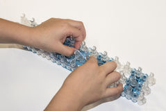 Creative With Loom Bands Royalty Free Stock Images